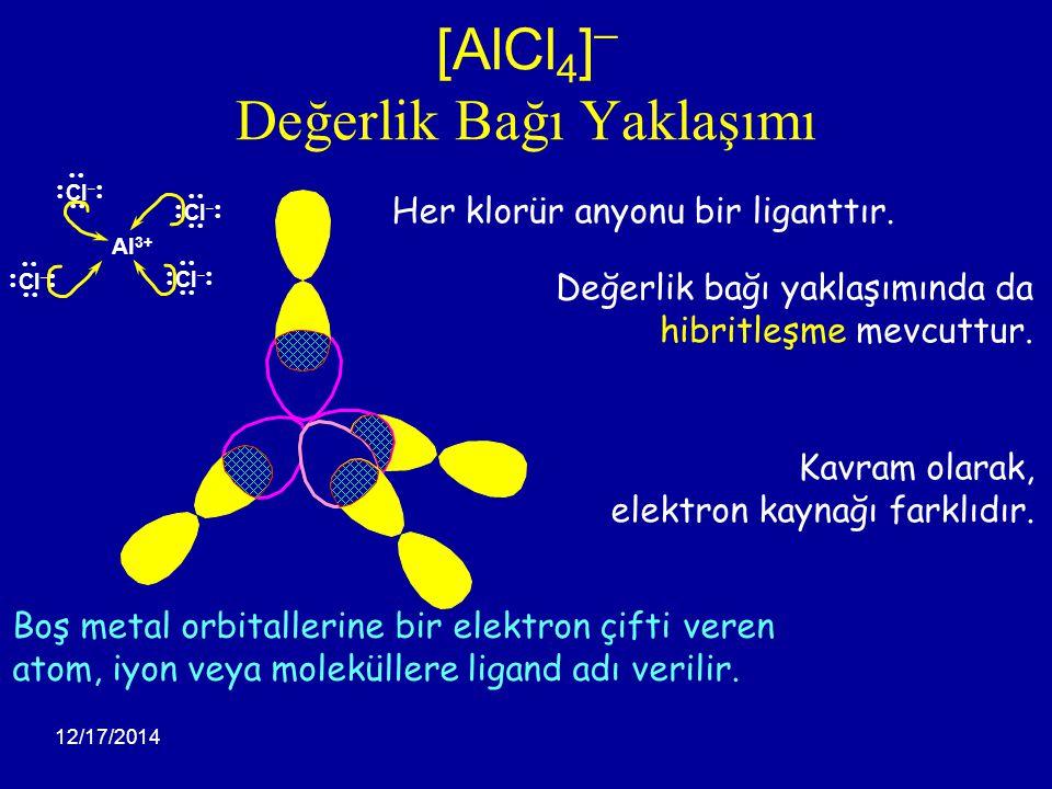 [AlCl4]¯ Değerlik Bağı Yaklaşımı